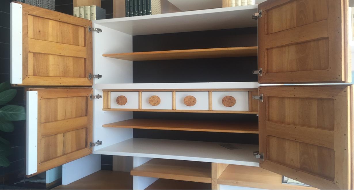 Libreria porta tv marchetti da cm 300 in legno massello - Mobilificio d arte marchetti ...