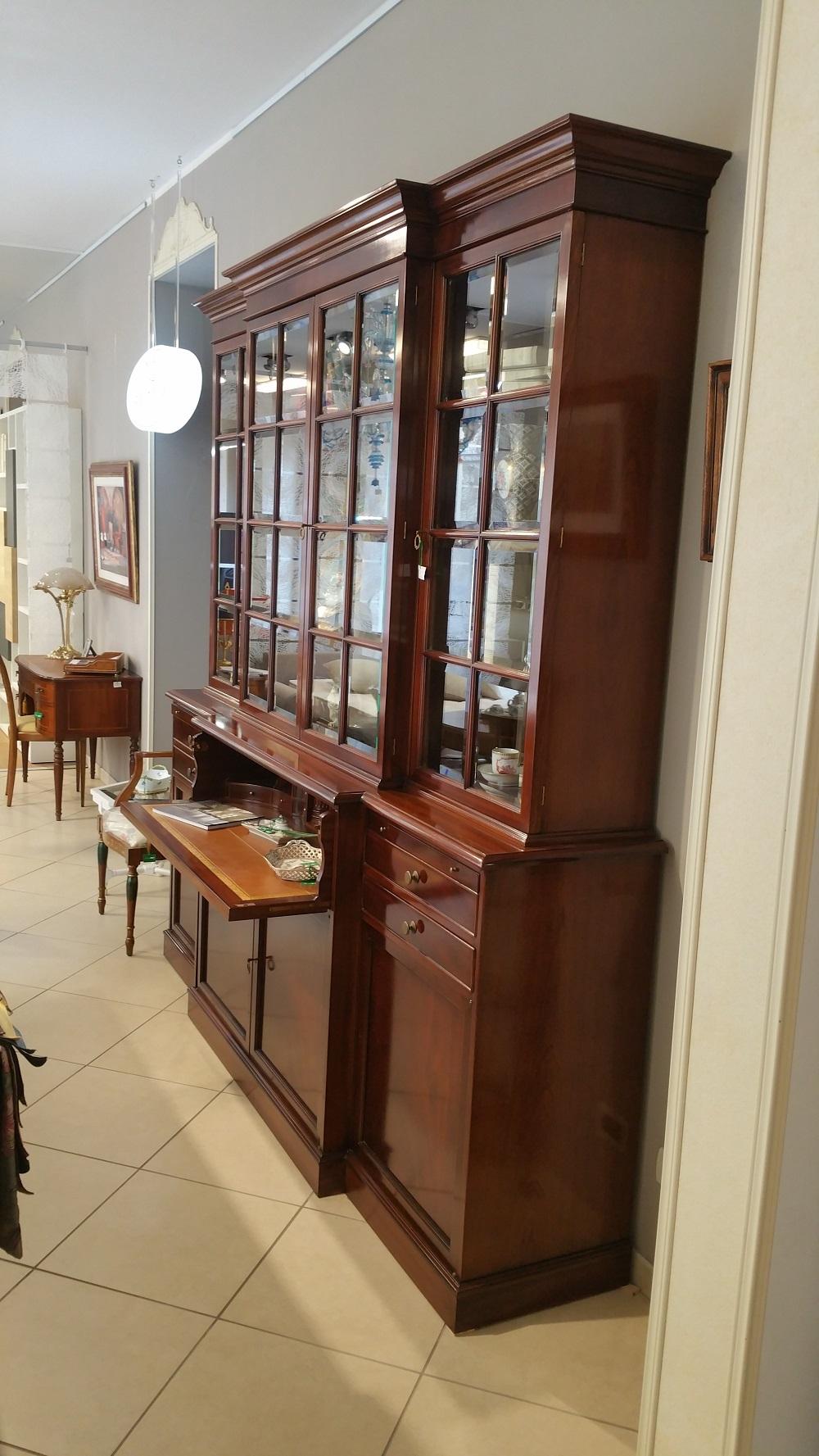 libreria Provasi legno massello con vetrine scontato del ...