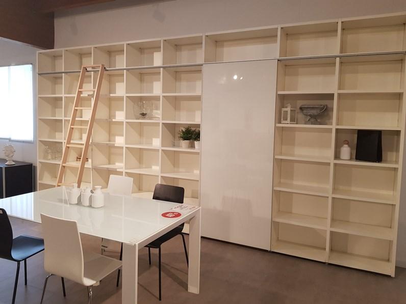 Libreria scorrevole con scaletta lema - Libreria a scaletta ...