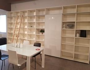 Libreria scorrevole con scaletta Lema