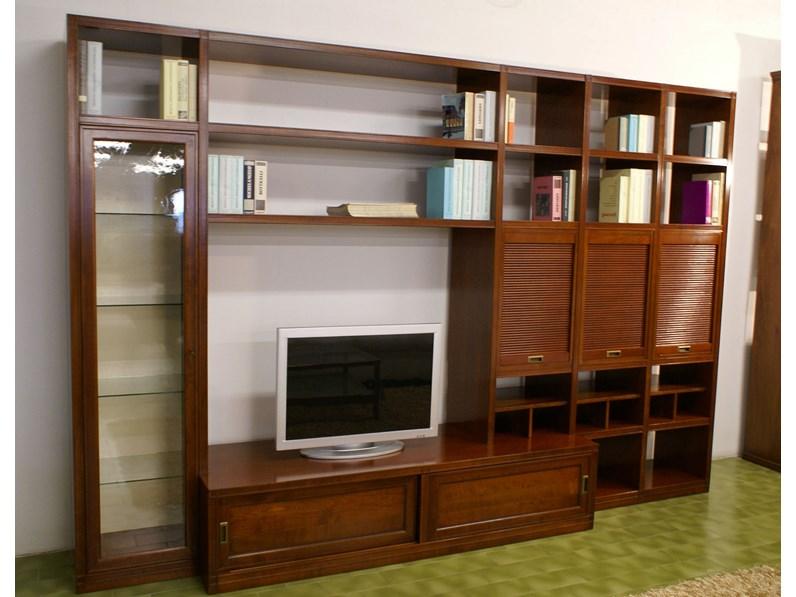 Libreria telaro di el marangon legno ciliegio massello for Minelle arredamenti