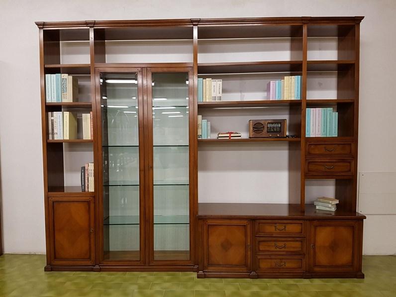 Libreria tresor di bizzotto in legno noce nazionale massello for Minelle arredamenti