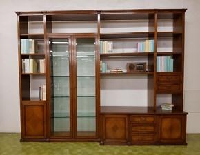 Libreria TRESOR di Bizzotto in legno noce nazionale massello
