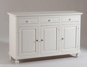 Madia Artigianale in laccato opaco Mobile-credenza mod.ludwig laccato bianco opaco a prezzo Outlet
