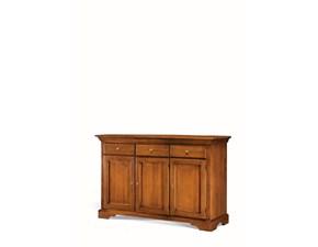 Madia Artigianale in legno Credenza mod.dorothy a 3 ante scontata del 50% a prezzo scontato