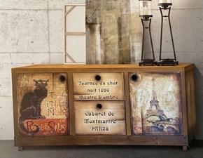 Madia Artigianale in legno Industriale a prezzo Outlet