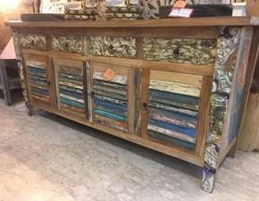 Madia Artigianale in legno Legno riciclo a prezzo scontato