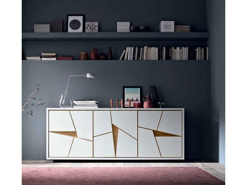 Madia moderna bianca legno offerta PREZZI OUTLET