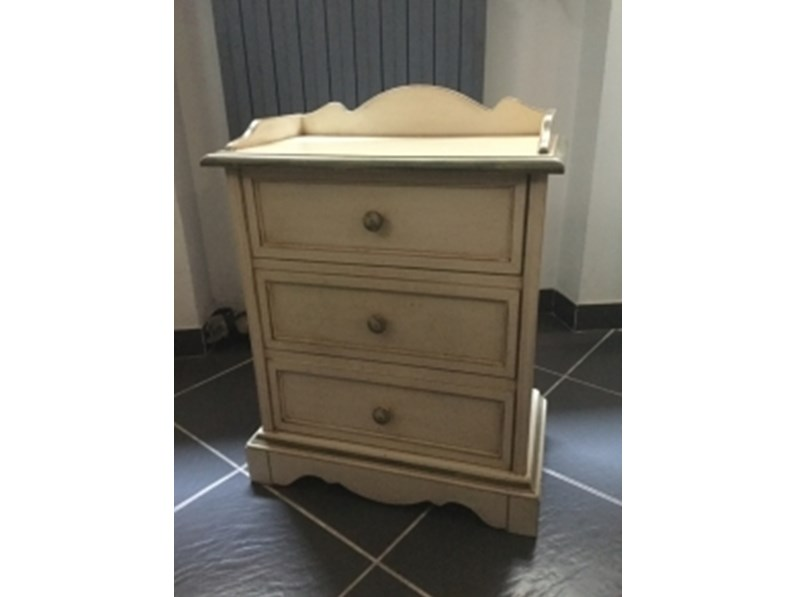 Madia Comodino shabby chic Bruno piombini OFFERTA OUTLET