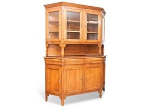 Madia Cristalliera legno vecchio Artigianale in stile classico a prezzo scontato