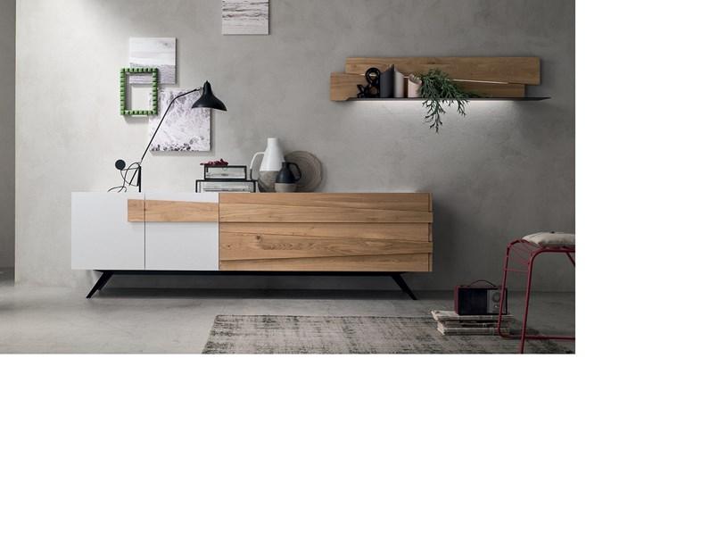 Madia design in legno di rovere con piedini in metallo PREZZI OUTLET