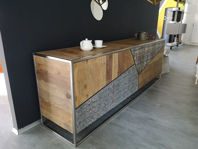 Credenza Moderna Outlet : Madia moderna riflessi twood scontato del