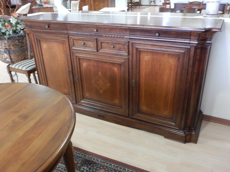 Madia e601 artigianale in legno a prezzo outlet for Fornasari arredamenti