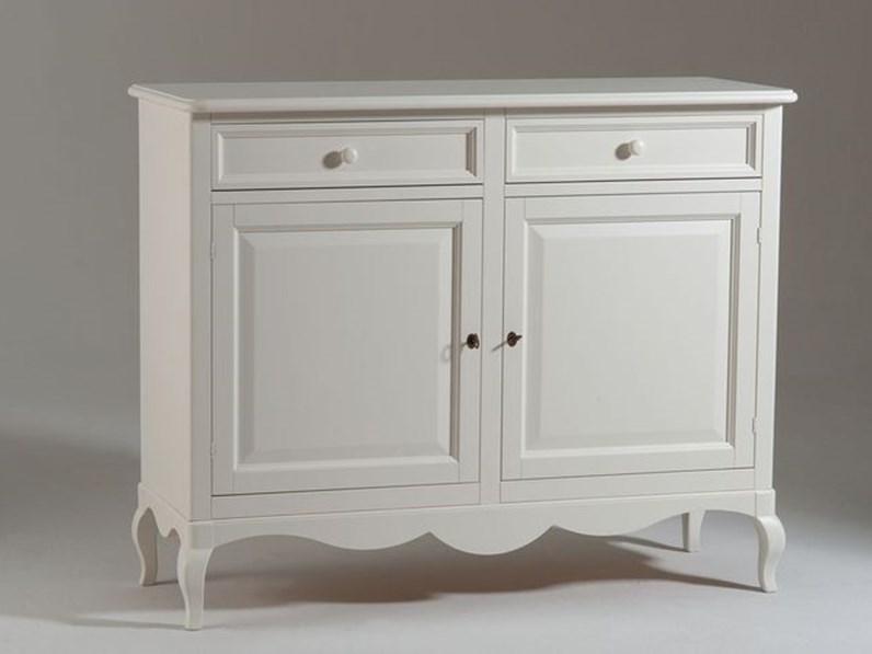 Madia in laccato opaco stile classico Mobile-credenza mod.chantal laccato  bianco Artigianale