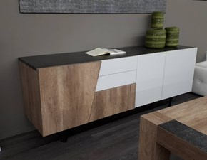 Madia in laminato materico stile moderno Versus Target point
