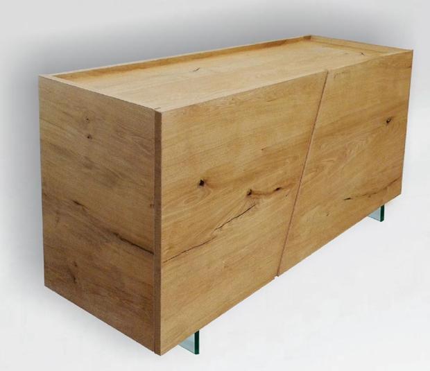 Credenza a 2 ante in legno massello di rovere sconto 45 - Soggiorni in legno ...