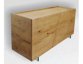Credenza a 2 ante in legno massello di rovere sconto -45%