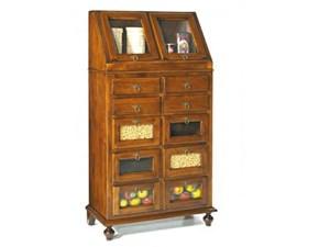 Madia in legno stile classico Dispensa in legno con cassettini mottes mobili Artigianale