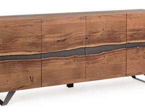 Madia in legno stile design Aron quattro ante Artigianale