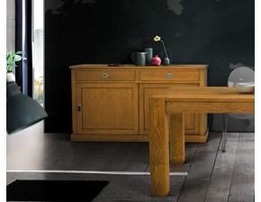 Madia in legno stile moderno Credenza 2 ante scorrevoli e 2 cassetti Mottes selection