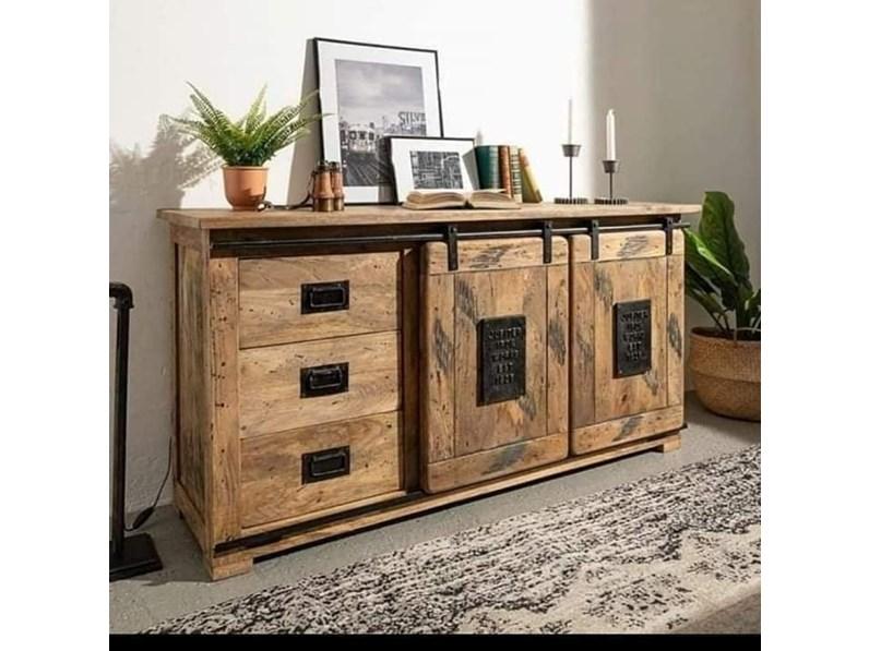 Madia in legno stile moderno Industrial jupiter Artigianale