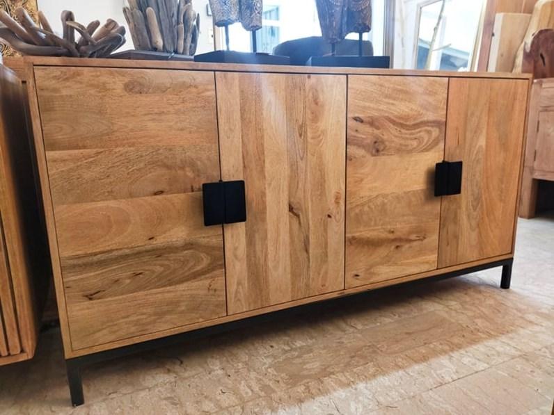 Madia in legno stile moderno Legno e ferro - quattro ante ...