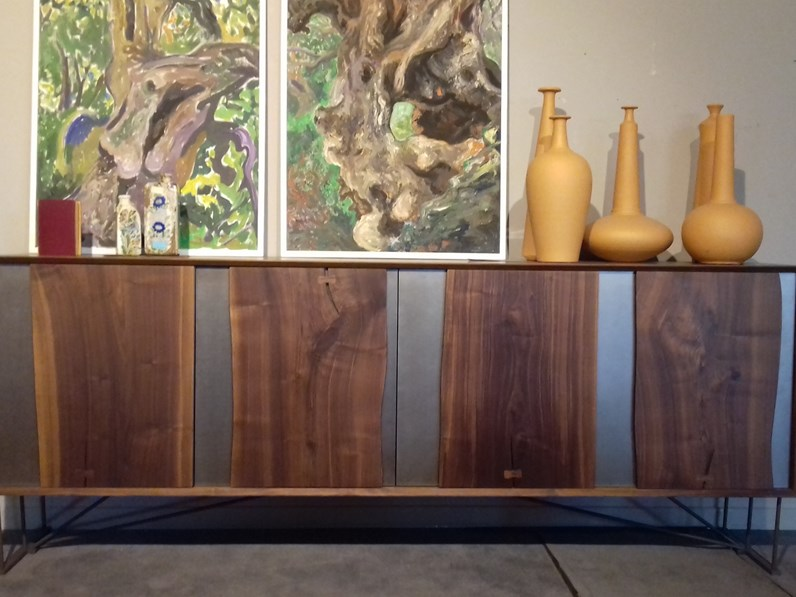 Madia in stile design arte brotto in legno offerta outlet for Madie design outlet