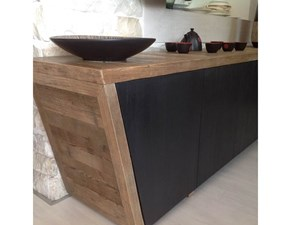 Madia in stile design Dialma brown in legno Offerta Outlet