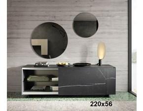 Madia in stile design Lago in vetro Offerta Outlet
