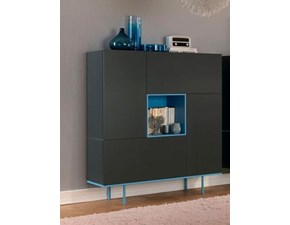 Madia in stile design Moretti compact in laccato opaco Offerta Outlet