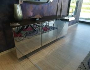Madia in stile design Riflessi in metallo specchiato Offerta Outlet