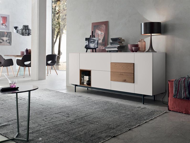 Offerta Madia Moderna.Madia In Stile Moderno Maronese In Laccato Opaco Offerta Outlet