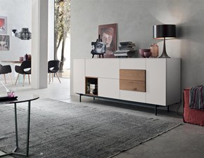 Madia in stile moderno Maronese in laccato opaco Offerta Outlet