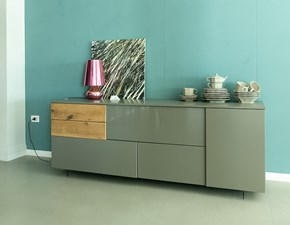 Madia in stile moderno Sangiacomo in laccato opaco Offerta Outlet