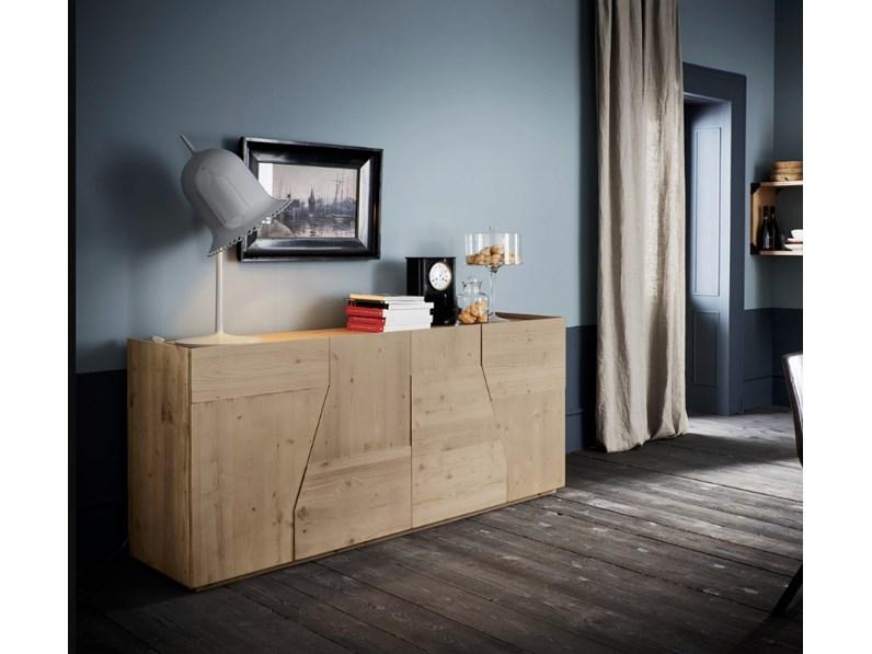 Credenza Alta Per Cucina : Madia legno massello di abete alta corte in stile design offerta a