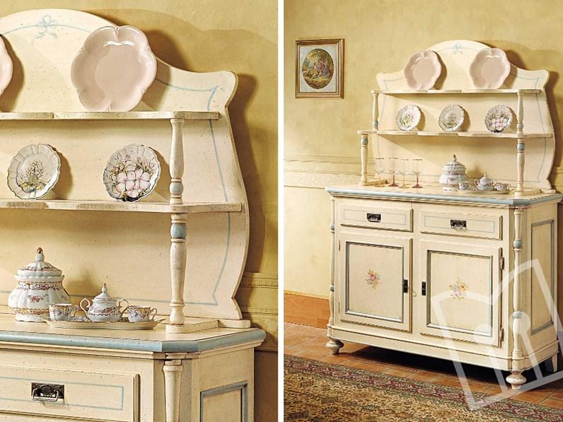 Credenza Con Piattiera : Madia con piattaia laccata decori artigianale offerta outlet