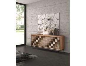 Madia Madia modello a scacchi Artigianale in legno in Offerta Outlet