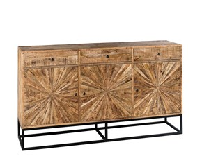 Madia Mobile credenza in legno borgougne in offerta Outlet etnico OFFERTA OUTLET