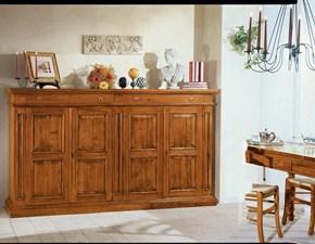 Madia Mobile-credenza mod.king in legno anticato scontato del 40% Artigianale in legno a prezzo Outlet