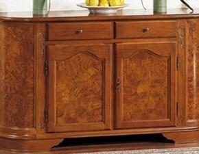 Madia Mobile-credenza  sagomata in radica scontata del 35% Stile italia in legno in Offerta Outlet