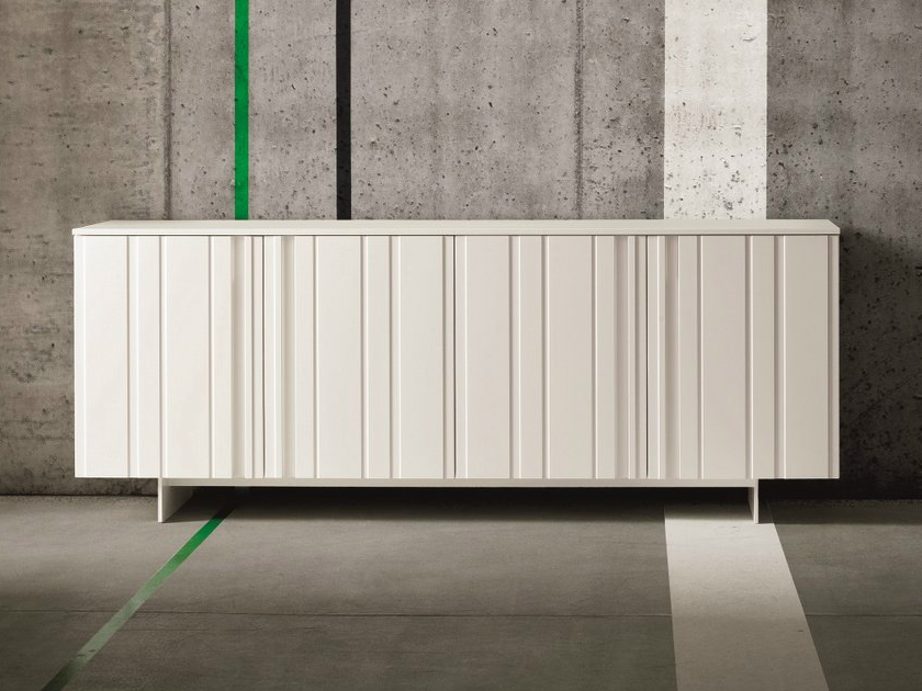 Madia mod design laccata opaco bianco soggiorni a for Madia design