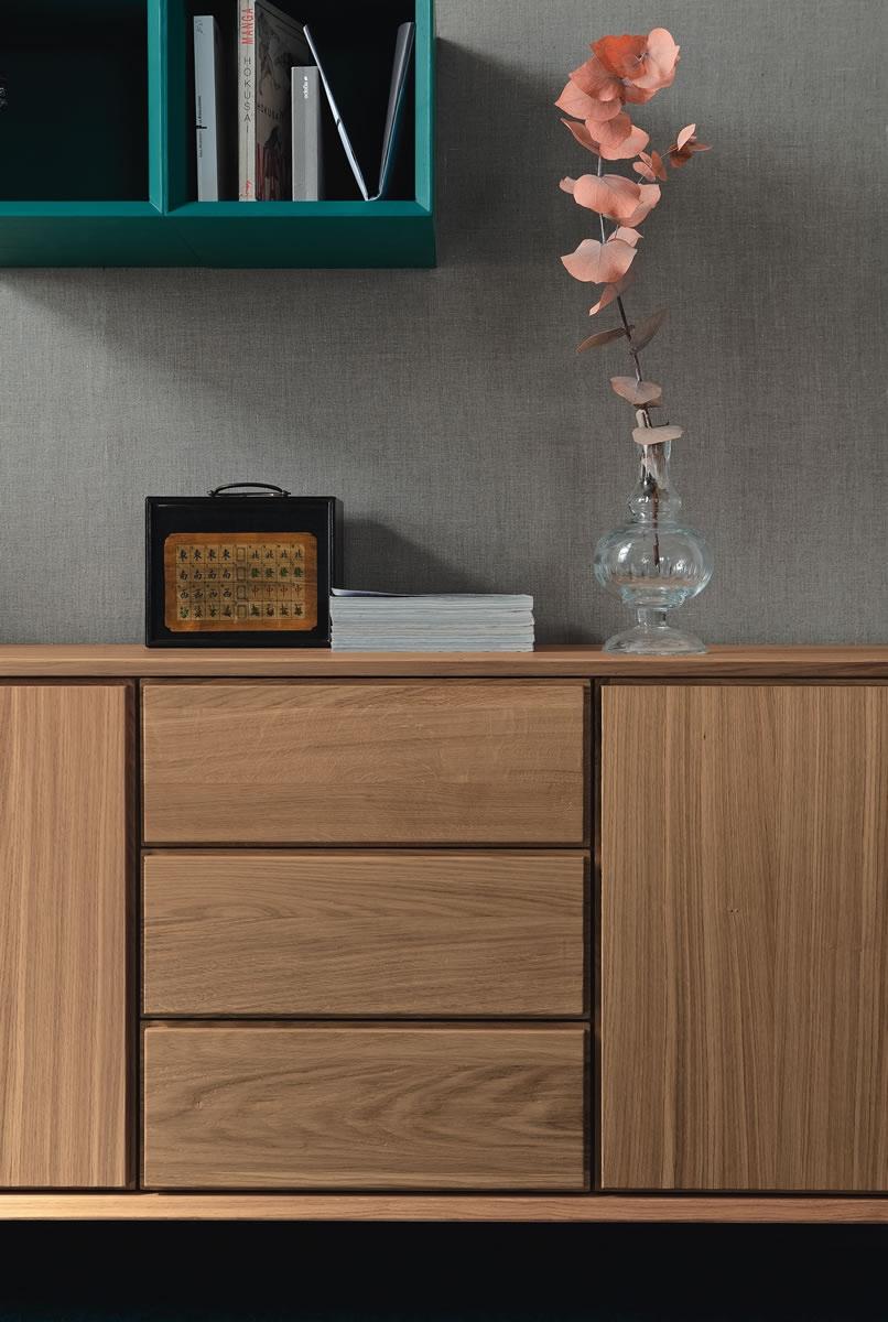 Credenza moderna angolo in rovere soggiorni a prezzi for Madie moderne di design