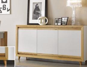 Madia Mottes mobili credenza a 3 porte in legno Artigianale in legno in Offerta Outlet