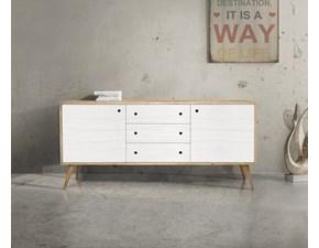 Madia Mottes selection in legno Madia in abete bianco bicolore a prezzo Outlet