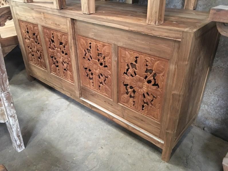 Madia Orientale teak riciclato Artigianale in legno a prezzo scontato