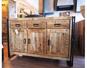 Madia Outlet etnico Credenza industrial bric in offerta  SCONTO IMPERDIBILE