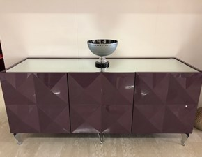 Madia Prisma Besana in laccato lucido in Offerta Outlet