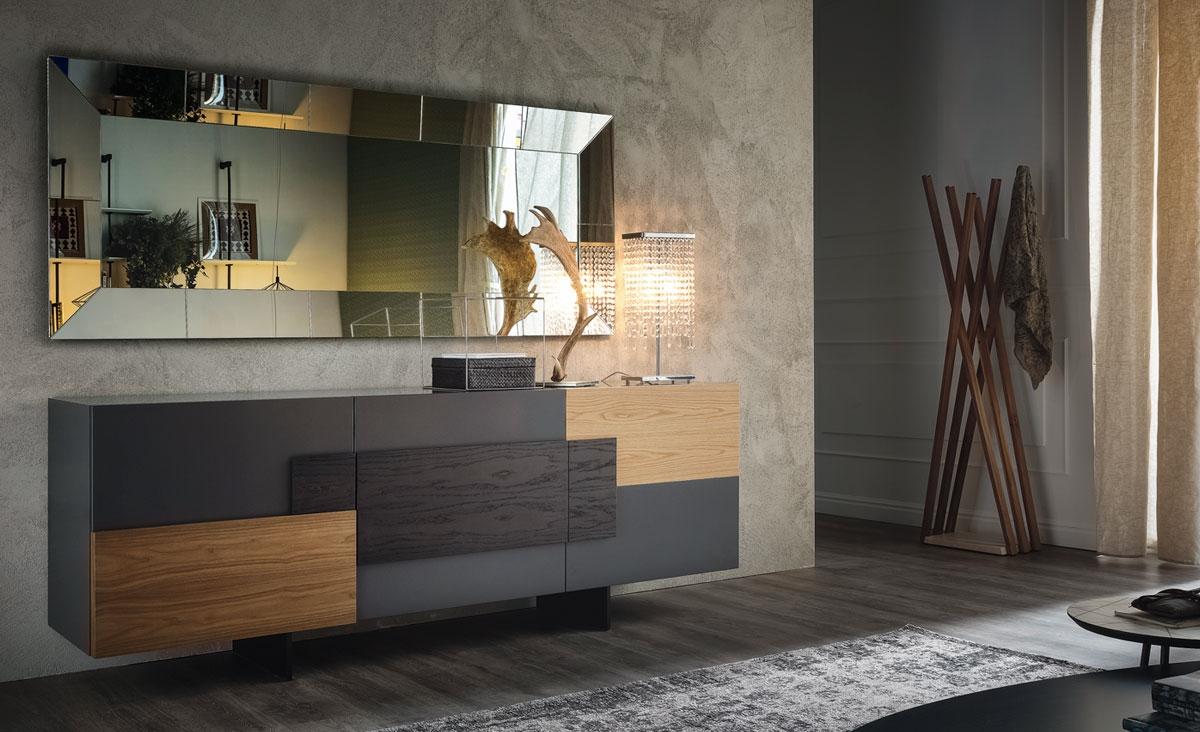 Madia modello torino di cattelan soggiorni a prezzi scontati for Outlet mobili italia