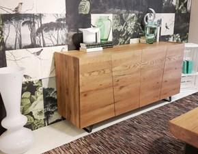 Madia Unika: credenza 4 ante il legno stile industriale-contemporaneo a prezzo scontato