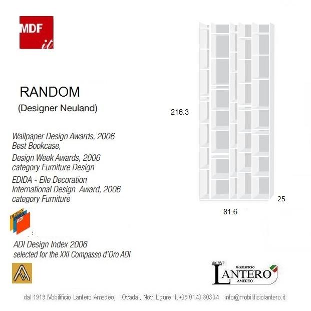 ... line Marca: Mdf Modello: random librerie, mdf italia, vendita on line